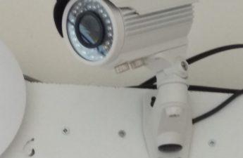 câmara video vigilância com microfone